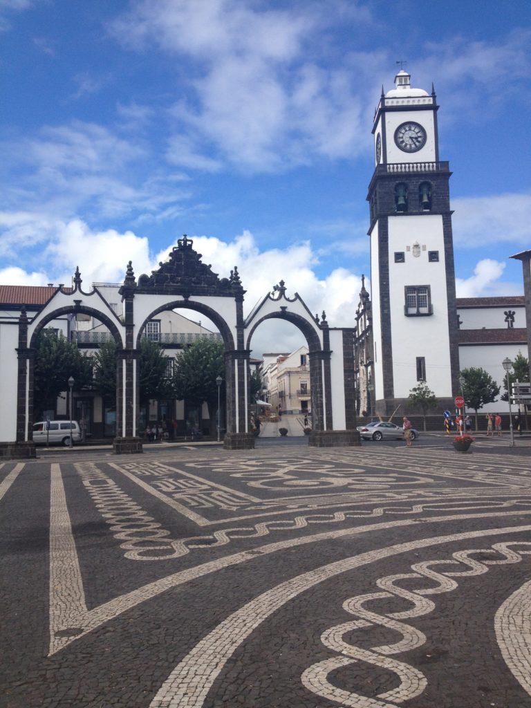 Praça Gonzalo Velho Cabral, Ponta Delgada, Sao Miguel, Azorerne, Portugal.