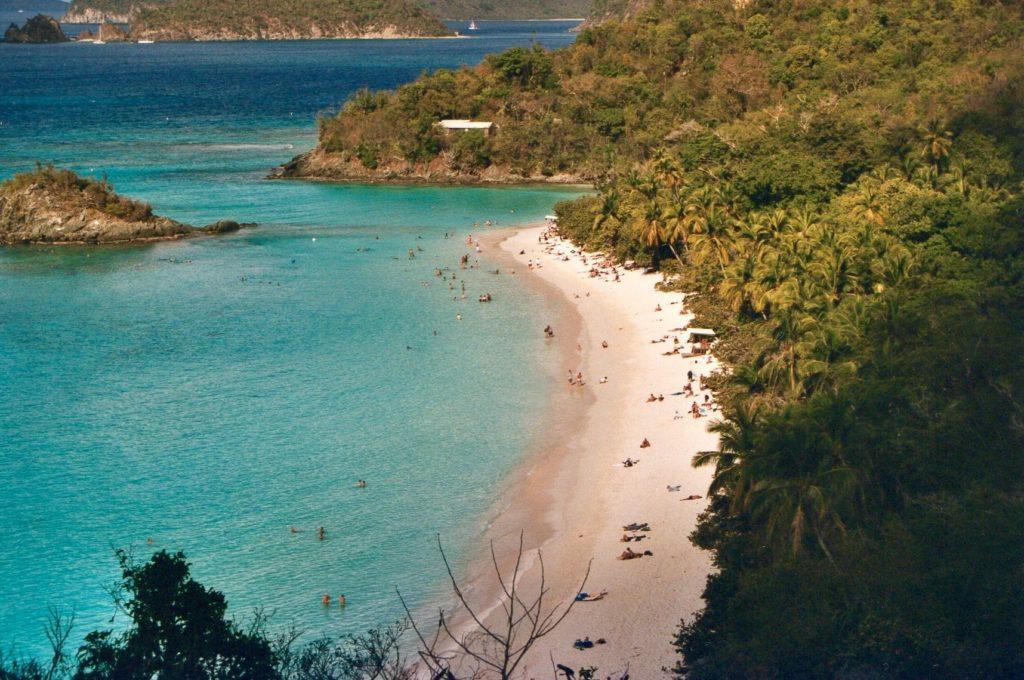 View over Trunk Bay, St. John, US Virgin Islands.